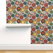 Wallpaper Roll Pysanky Abstract Rainbow Polka Dots Colorful 24in X 27ft