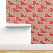 Wallpaper Roll Snake Arrows Indian Summer Gender Neutral Baby Cool 24in X 27ft