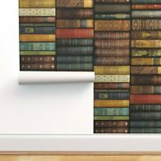 Wallpaper Roll Library Small Border Print Book Shelves Victorian 24in X 27ft