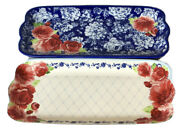 The Pioneer Woman Frontier Rose 14.17-inch Serving Platters 2-pack Free Shipping