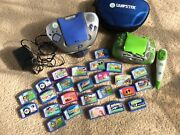 2 Leap Frog Leapster Learning Game Systems With 25 Games And Case