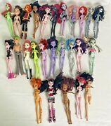 Monster High Doll Lot Of 26 2008-20015 For Parts Frankie Draculaura + 1st Wave