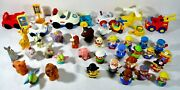 Lot 41 Pc Fisher Price Chunky Little People W/ Cars Barn And Zoo Animals