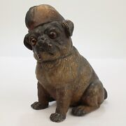 Antique Terracotta Pottery Pug Dog Figure From The Mario Buatta Collection - Vr