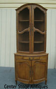 62075  Quality 2 Piece Bow Front Corner China Cabinet Curio