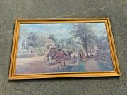 Vintage Home Again Gone With The Wind Lamson Henry Framed Art Lithograph ❤️sj8j