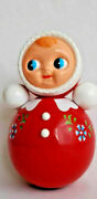 Celluloid Roly Poly Ussr Toy Vintage Thin Tumbler Sound Musical Toy Nevalyashka