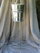 Stunning Art Deco Hotel Champagne Wine Bucket And Stand Sheffield Silver Plate...