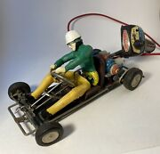 Vintage 1960s Marx Battery Operated Race-a-kart Remote Control Go Kart