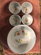 Vintage Country Flowers Andrea By Sadek 7 1/2 Oven 2 Table Baker Casserole 4 Sm