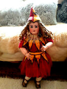 Jumeau Tete Dep Rare Size 14 Red Stamped And Body Labeled French Antique Doll