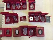 Set Of 35+ Waterford Crystal Christmas Memories Ornaments 1980s - 2010s