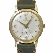 Moeris Round Yellow/gold Manual Winding Silver 34mm Antique Vintage Mens Watch