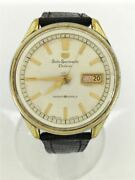 Seiko Sportsmatic 7619-7010 Used Self-wind Watch Deluxe 25 Jewels Anlg Wh Blk Ec