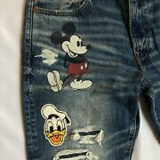 New American Eagle Disney X Ae Jeans Mens Size 33x30 Mickey Mouse Donald Nwot