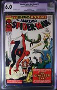 Amazing Spider-man Annual 1 Silver Age Ow-white Pages Cgc 6.0 3905982002