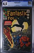 Fantastic Four  52 Cgc 4.5 Key Silver Age 3905982006 Black Panther