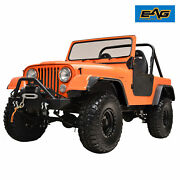 Eag Fender Flares Flat Style Abs Wide Body Fit 59-86 Jeep Wrangler Cj5/6/7