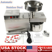 Automatic Oil Press Machine Stainless Steel Cold Hot Press Oil Extractor Usa