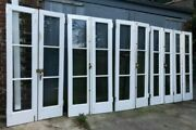 5 Pairs 83 Antique Exterior 3-pane French Doors With 7ft Brass Cremone Bolts