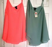 Lot Of 2 Torrid Women's Shear Blouses Tops Size 0 Brand New W/tags