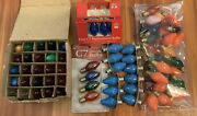 Lot Of 49+ Christmas Light Replacement Bulbs C7 Multi Color