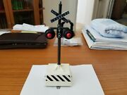 Lionel Postwar 155 Flashing Train Crossing Sign With Bell, Restored, Very Nice,