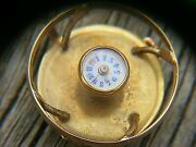 Antique Watch Button Watch Pendent 18k Gold Black Star And Frost Ny