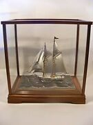 Japanese Solid Silver Boat Ship Yacht Seki 960 Sterling Signed