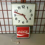 Vintage Coca Cola Coke Clock 1970and039s Model G-012 Great Working Condition