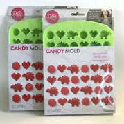 Silicone Candy Mold Nerdy Nummies 42 Cavity Wilton Lot Of 2 Ro Gummies Gummy