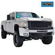 Eag Fits 07-10 Chevy Silverado 2500 Rivet Grille Stainless Steel Wire Mesh