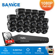 Sannce Outdoor Hd 1080p Cctv Camera 5in1 16ch Dvr Home Surveillance System Ip66