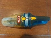 Ryobi P712 18v Battery Powered Handheld Vacuum Blue Yellow With Attachment Works