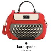Kate Spade All Typed Up Typed Writer Typewriter Clyde Bag Purse Novelty Library
