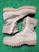 Mens Wellco Military Tactical Army Combat Desert Tan Boots Vibram Size 8r
