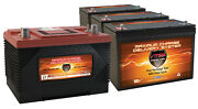Xca27 And 3 Mr127 Agm 1k Mca For Marine Gas Engine And 100ah Deep Cycle Aux Battery