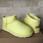 Ugg Classic Ultra Mini Margarita Water-resistant Suede Boots Size Us 7 Women
