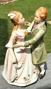 8-3/8 Price Imports Victoriancolonial Dancing Couple Music Box Porcelain Vtg