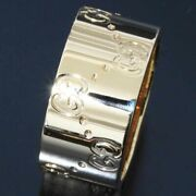 Wide Icon Band Ring 18k Yellow Gold D8333