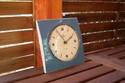Junghans Electronic Ato Mat Electronic Wall Clock In Very Rare Pastell Blue