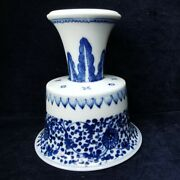 Antique Chinese Blue And White Porcelain Cup 19th-20th Century.