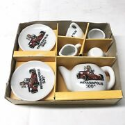 Childs Mini Tea Set Indianapolis 500 Dishes Made In Japan 7 Pieces