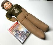 Vtg Large Davy Crockett, Stuffed Western Frontier Character Doll 1950s Toy Hts