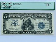 1899 5 Dollar Silver Certificate Chief Pcgs 40 Extremely Fine Fr. 281