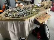 Model Train Layout N Scale With Rolling Stock Cleaners And Extra Track / Supplies