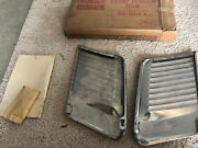 Nos 1955 1956 Ford Stainless Gravel Shield Moldings Pair B5a-18268-a