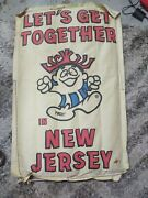 Vintage Hawaiian Punch Inflatable Souvenir Raft-lets Get Together In New Jersey