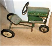 Antique ☆ Bmc ☆ John Deere Pedal Tractor ☆ Heart Steering Wheel And Seat