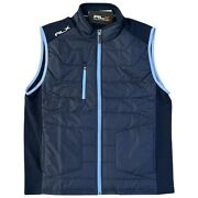 Rlx Golf Tour Performance Quilted Vest Polo Navy Blue Mens Xl